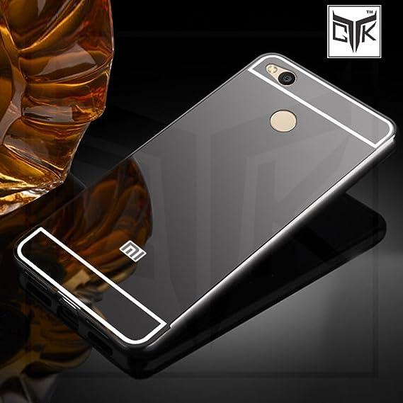 watch 539aa 37280 TheGiftKart Mirror Back Cover with Metal Bumper (Graphite Black) for Redmi 4