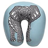 Neck Pillow With Resilient Material India Treasure Elephant U Type Travel Pillow Super Soft Cervical Pillow
