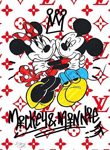Mickey & Minnie Lovers Louis Vuitton ポップアート #td41 オマージュ アート ポスター A1サイズ(594×841mm) カラー td41b B01LXTVRFLtd41b A1(594×841mm)