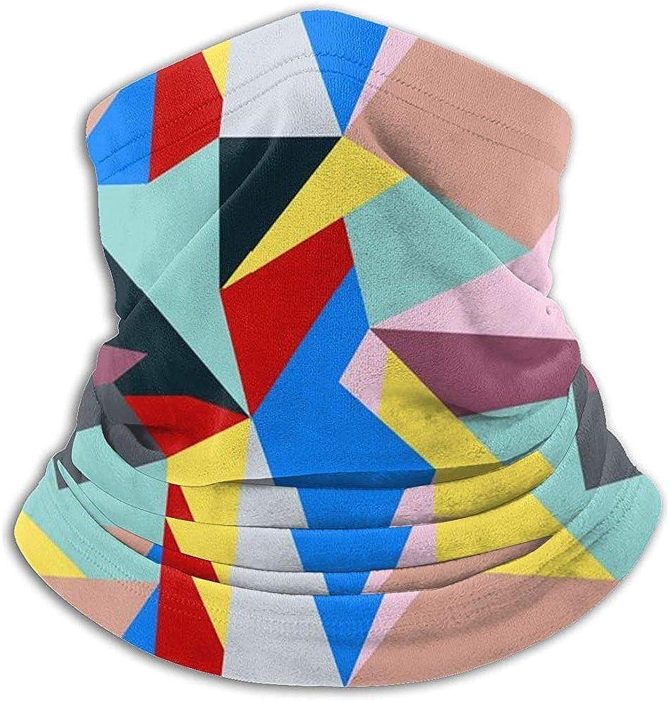 Merle House Neck Warmer Gaiter Bauhaus Style Pattern Soft Microfiber Headwear Face Scarf Mask para el invierno Mantener caliente