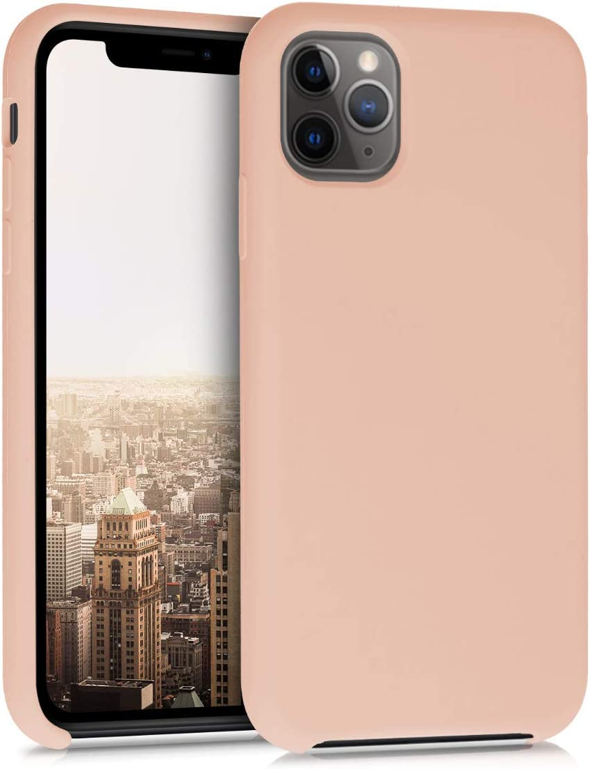 kwmobile TPU Silicone Case Compatible with Apple iPhone 11 Pro Max - Soft Flexible Rubber Protective Cover - Peach