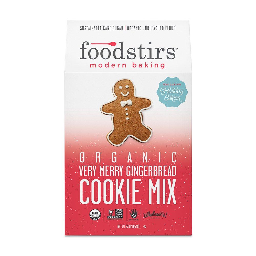 Amazon.com : Foodstirs Organic, Non GMO Very Merry Gingerbread ...