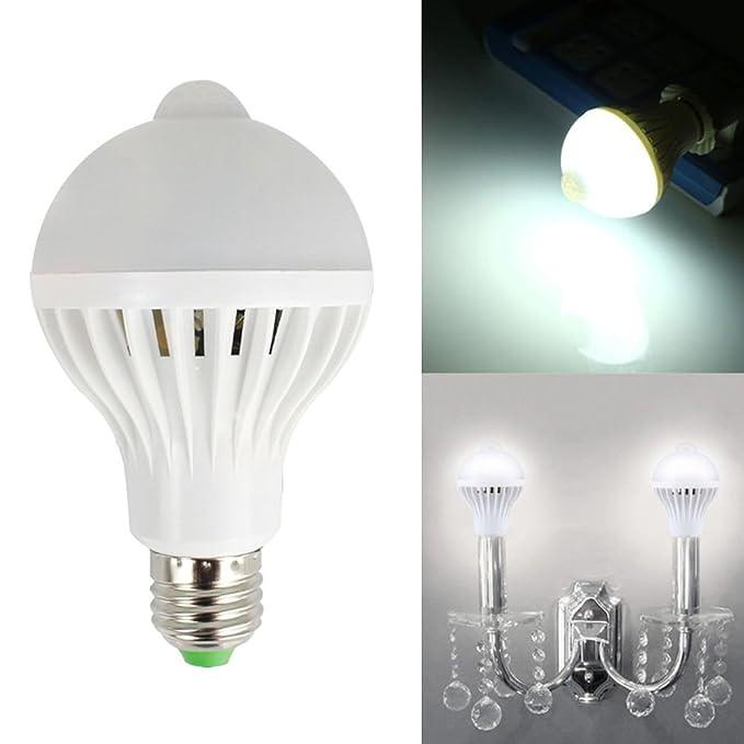 discogoods 5 W/7 W/9 W LED PIR sensor de movimiento por infrarrojos automático bombilla ahorro de energía Luz E27 Base de la lámpara para oficina en casa ...