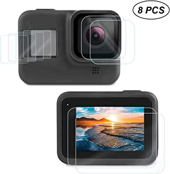 For GoPro Hero 8 Screen Cover Film Tempered Glass Lens Protector Accessories