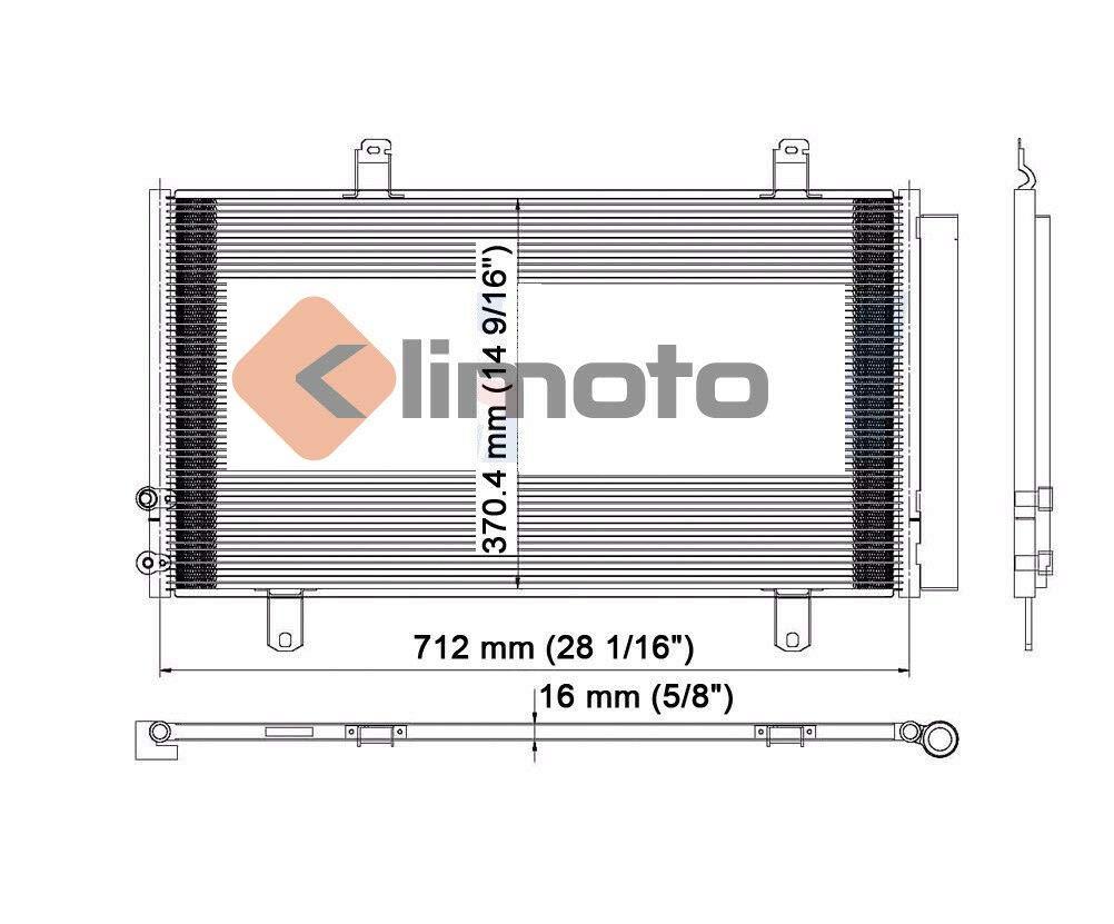 Klimoto Brand New Condenser fits Toyota Camry Venza Avalon Mercedes-Benz E350 2.4L 2.5L 2.7L L4 3.5L V6 Lifetime Waranty TO3030203 8846007060 8846006210 3396 7-3396 CND3396 DPI3396 3396HE