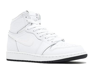 88691b9e6d14d Nike Kids Air Jordan 1 Retro High OG BG Black/White 575441-007 (Size: 5.5Y)