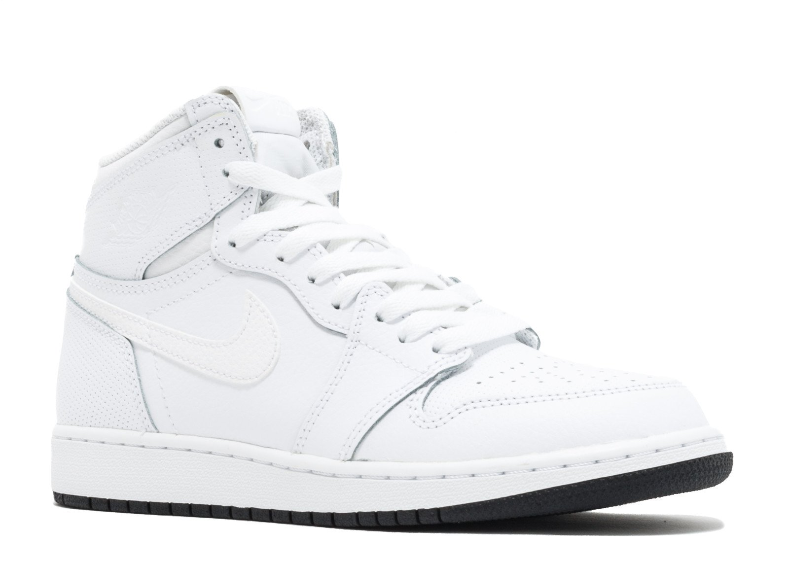 half off bd9e1 a32a3 Galleon - NIKE Kids Air Jordan 1 Retro High OG BG Black White 575441-007 ( Size  5.5Y)