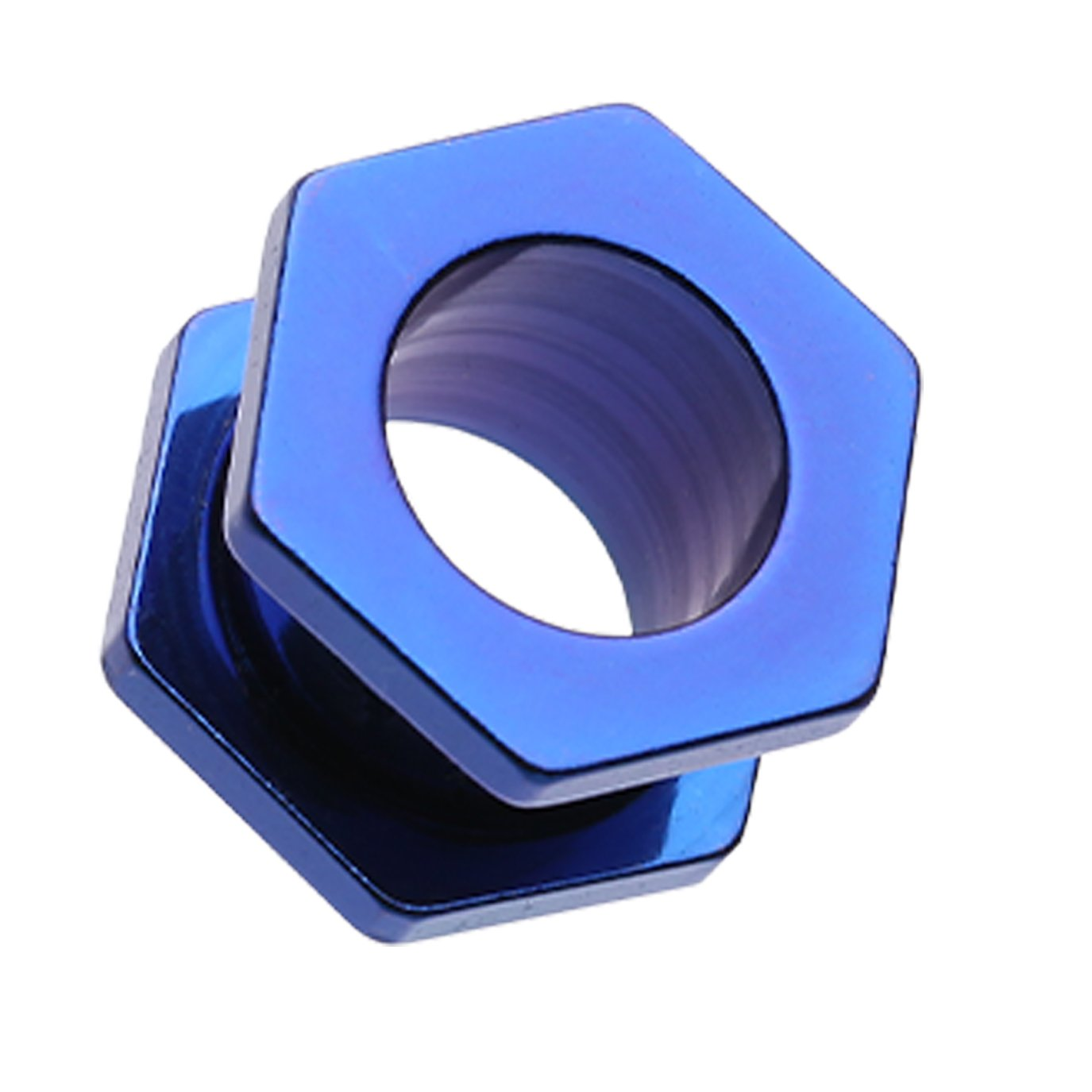 Colored IP Coated Hexa Bolt Screw-Fit Ear Tunnel Plug Blue