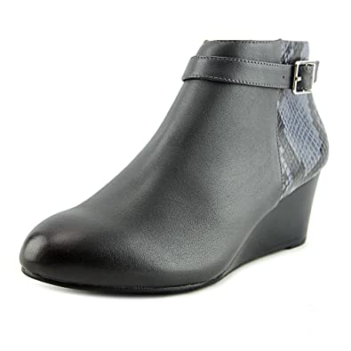 Vionic Womens Shasta Wedge Boot Grey Snake Size 5