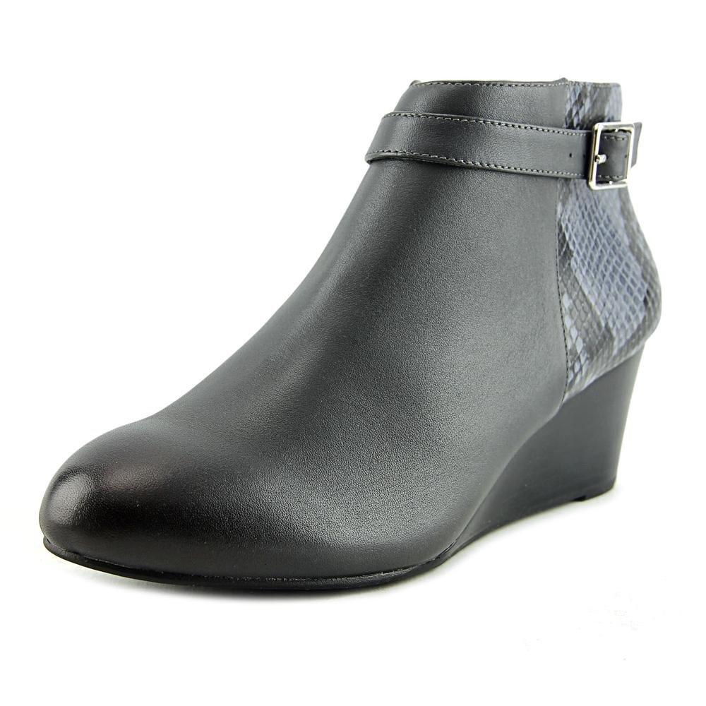 VIONIC Women's Elevated Shasta Wedge Boot Grey Snake Wedge