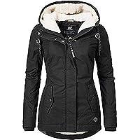 QWEWQE Abrigo de invierno para mujer, grueso, resistente al viento, chaqueta de invierno cálida, con cremallera…