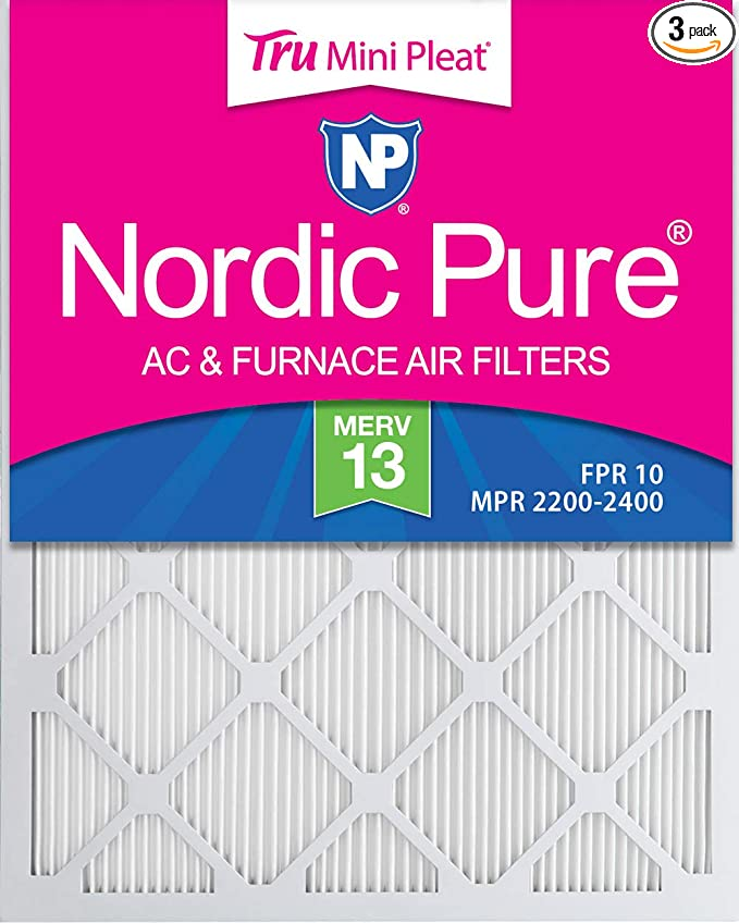Nordic Pure 14x20x1 MPR 2200 Healthy Living Elite Allergen Replacement AC Furnace Air Filters 3 Pack
