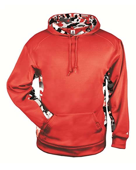 525a0ca4 Amazon.com : Blank Back Red Adult Small with Red CAMO Sides and ...