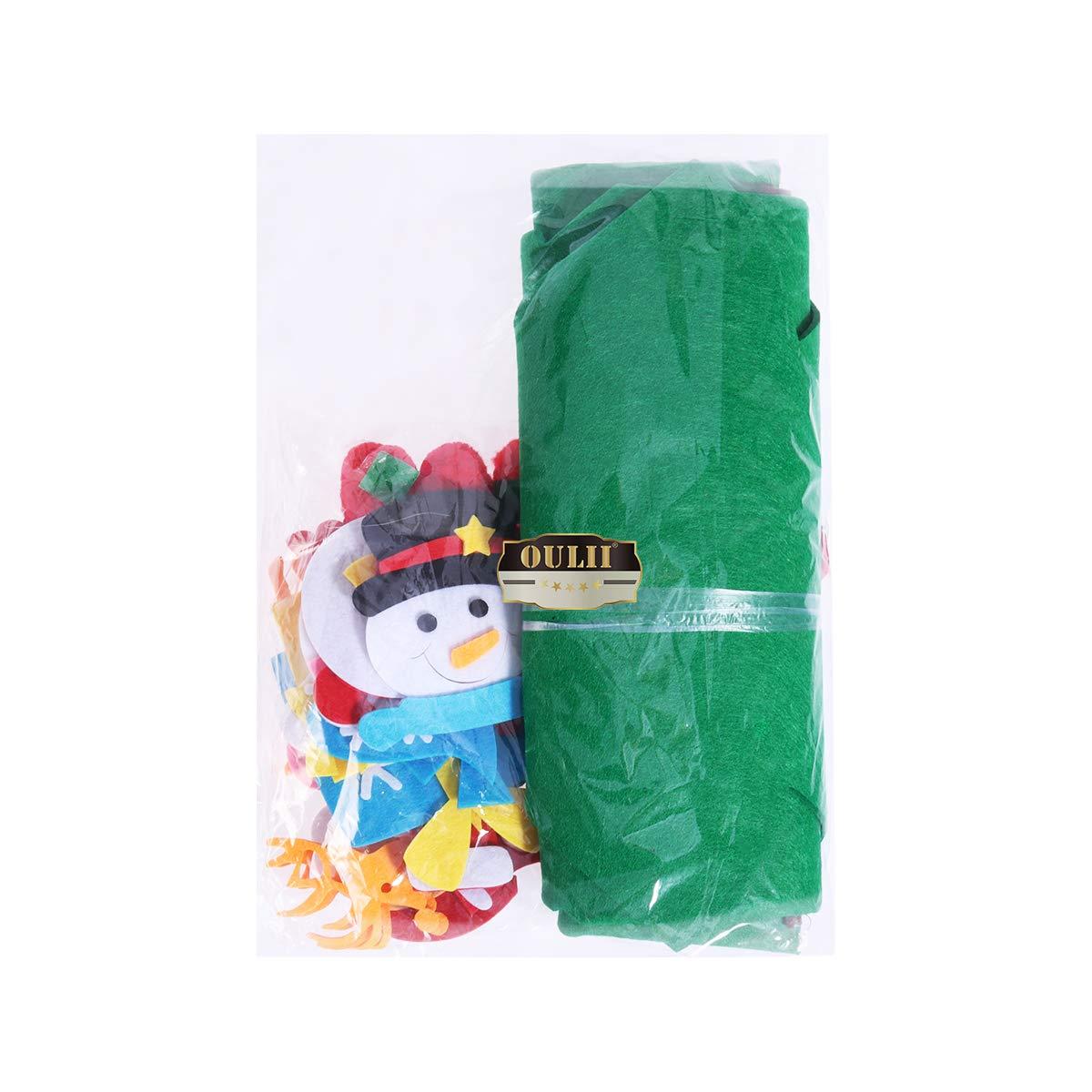 Santa Claus Toyvian Fieltro /Árbol de Navidad DIY /Árbol de Navidad Adornos Decoraci/ón de Pared ni/ños