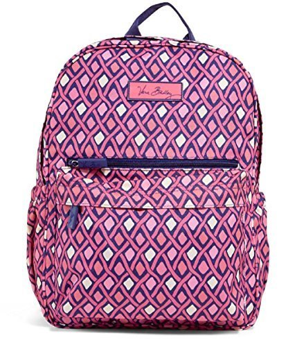 Fashionable Vera Bradley Lighten Up Just Right Backpack in Katalina Pink Diamonds