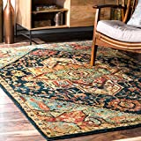 nuLOOM RZIN06A Tribal Medallion Tabetha Rug, 5′ x 7′ 5″, Green Review