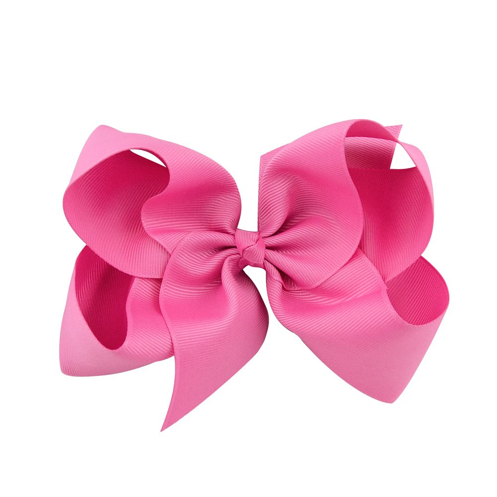 6 Inch Large Baby Hair Bows Barrettes Clip Holders Accessories For Toddler Girls 15 pcs by YHXX YLEN (Image #9)