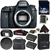 Canon EOS 6D Mark II DSLR Camera (Body Only) 26.2MP Full-Frame International Version Silver Level Bundle