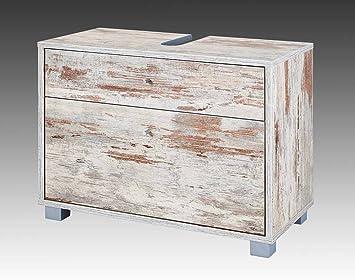 Waschtischunterschrank antik  Waschtischunterschrank in Eiche Antik Dekor mit 2 Schubkästen inkl ...