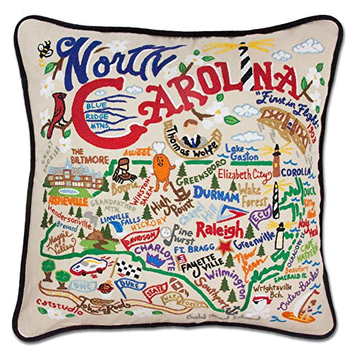 Carolina Decorative Pillow - North Carolina State Pillow by Catstudio