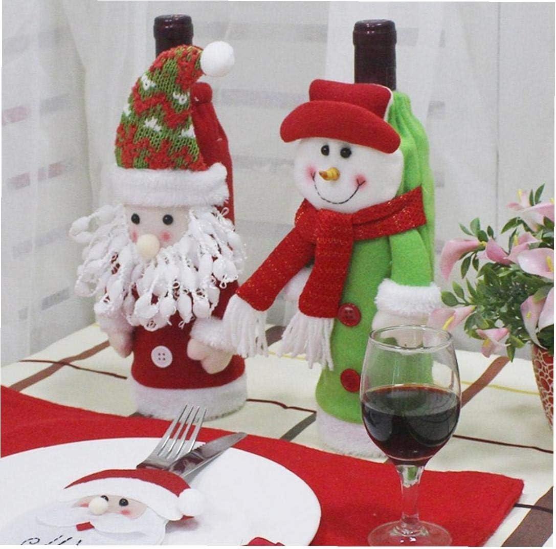 hvxjxk Weihnachten Weinflasche Abdeckung Rotwein Taschen Pullover Wein-Geschenk-Beutel Champagne Taschen-Party-Weihnachtsdekorationen Hotel Bar K/üchentischdekoration