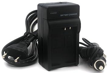 LP-E10 Cargador para Canon EOS 1100D, 1200D, EOS Kiss X50, EOS Rebel T3 cámara con Cable de alimentación de la UE y Adaptador de Coche