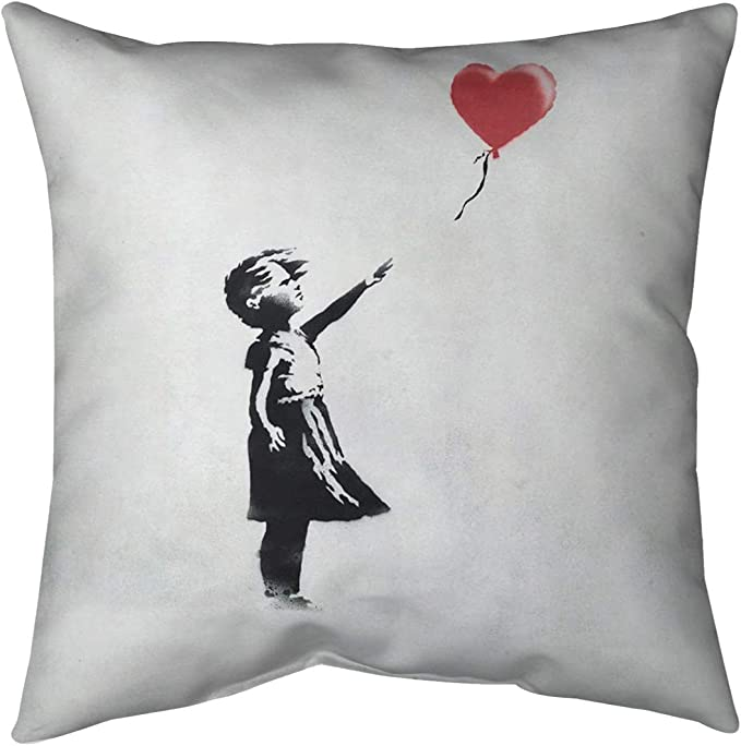 Pillow Cover Only ArtVerse Katelyn Smith California Love Watercolor 20 x 20 Pillow-Cotton Twill Double Sided Print with Concealed Zipper