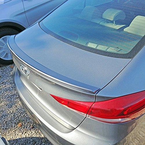SA-ELA17 Factory Style Flush Mount Spoiler for Hyundai Elantra - PHANTOM BLACK PEARL - Elantra Hyundai Spoiler Car