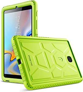 Galaxy Tab A 8.0 2018 Case, Poetic TurtleSkin [Corner Protection][Bottom Air Vents] Protective Silicone Case for Samsung Galaxy Tab A 8.0 (2018) SM-T387 Verizon/Sprint/T-Mobile - Green