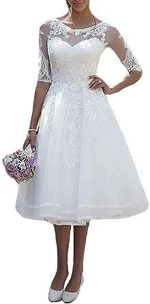 JAEDEN Robe de mariée Court Femme Robe de