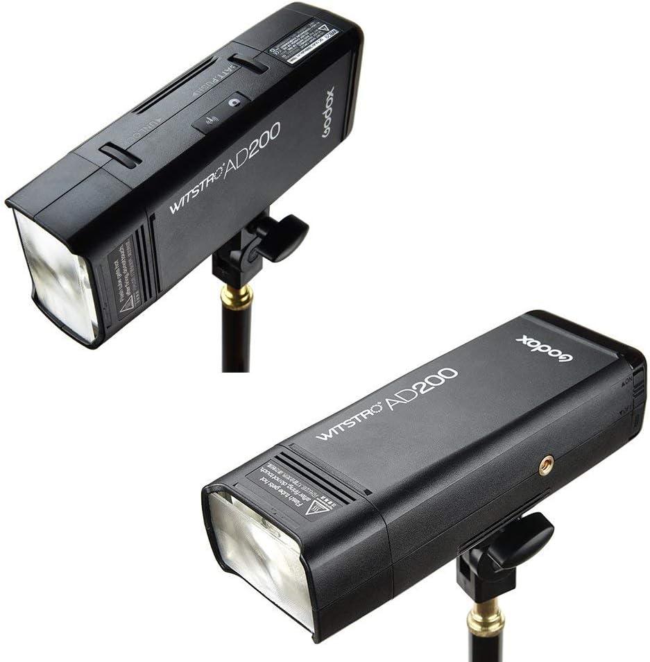 Godox AD200 TTL 2.4G HSS 1//8000s Pocket Flash Light Double Head 200Ws 2900mAh Lithium Battery+GODOX XPro-S TTL Wireless Transmitter Compatible for Sony Cameras