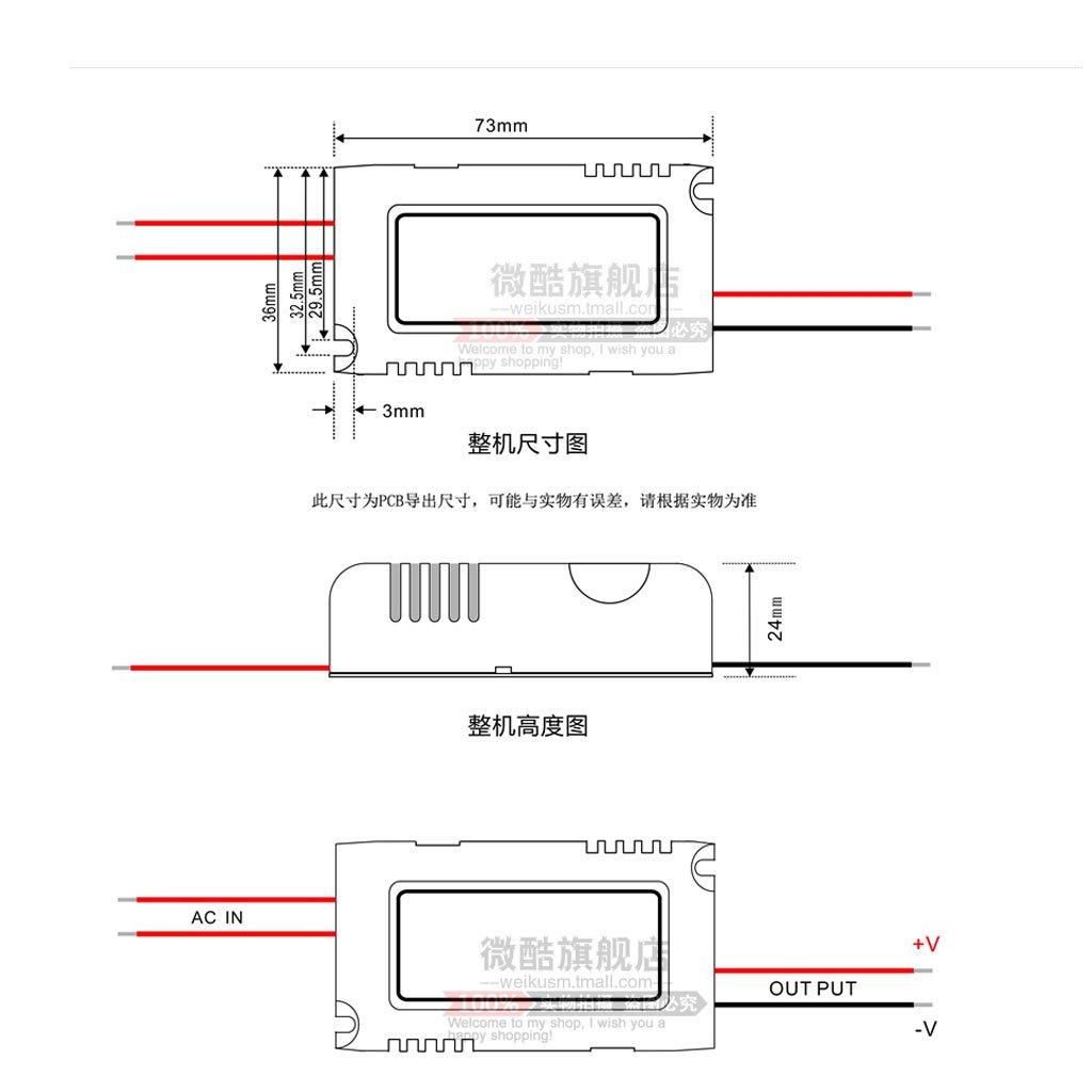 Adaptador de Corriente AC-DC Step Down Herramientas Multiusos 220V bis 12V 1A 12W