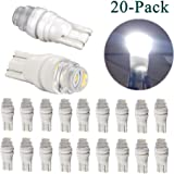 20Pcs Super Bright T10 168 192 194 2825 W5W LED Light Bulbs