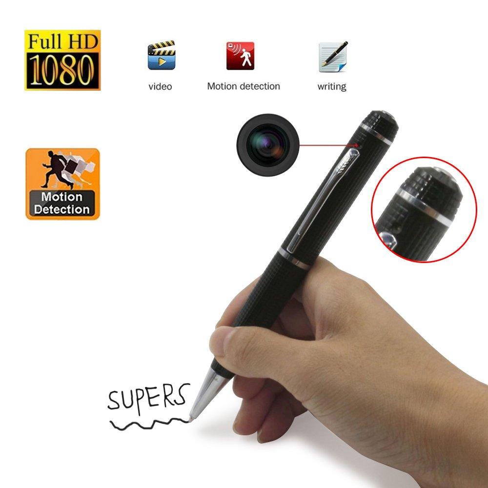 Spy Cam Camouflage Full HD Spy Camera Monitor Mini DV Camera Portable Pen Recording Video Recorder@Laing Silver pen