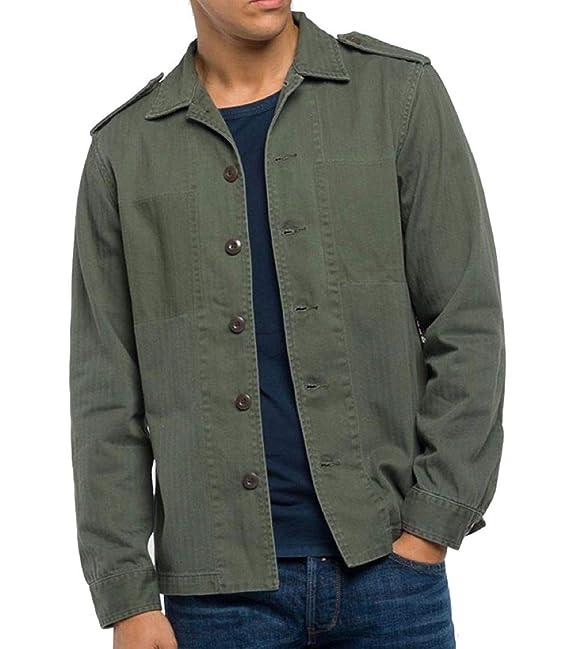 REPLAY Camisa M4997 000.83176 Military Taglia XL - Colore Verde ...
