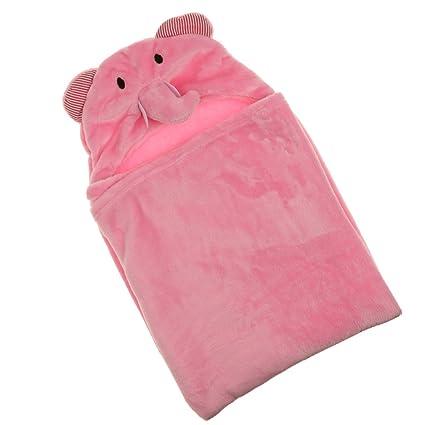 Bata De Baño Vestidor Bebé Toalla Saco De Dormir Envoltura De Manta Con Capucha Búho -
