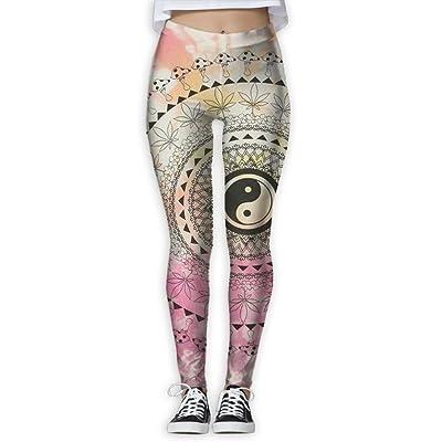 QQWSANIF Yin Yang Gossip Women's Yoga Pants Capri Legging Workout Gym Tights