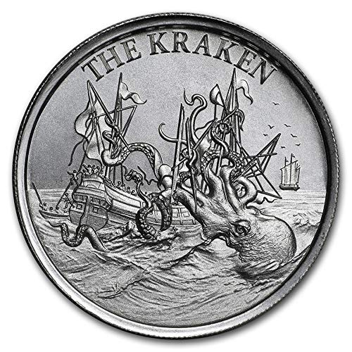 - Cryptozoology Collection The Kraken 2 oz .999 Silver USA Made Chubby BU Round