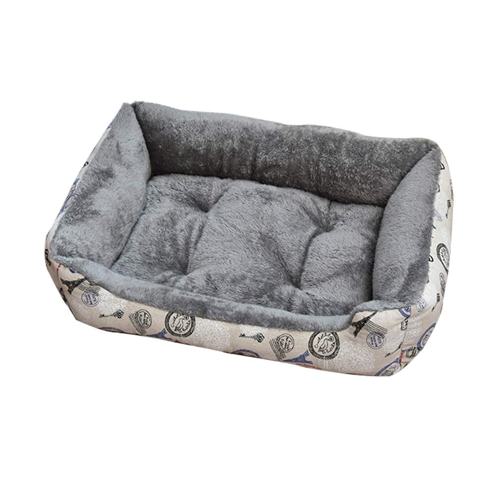 YANQ Cama Lavable para Perros Caja de Almohadilla para el cajón Colchoneta para el Perro Lavable Antideslizante Mascotas Almohadillas para perreras Pet Nest ...