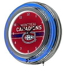 Trademark Gameroom NHL Montreal Canadiens Chrome Double Rung Neon Clock by Trademark Gameroom