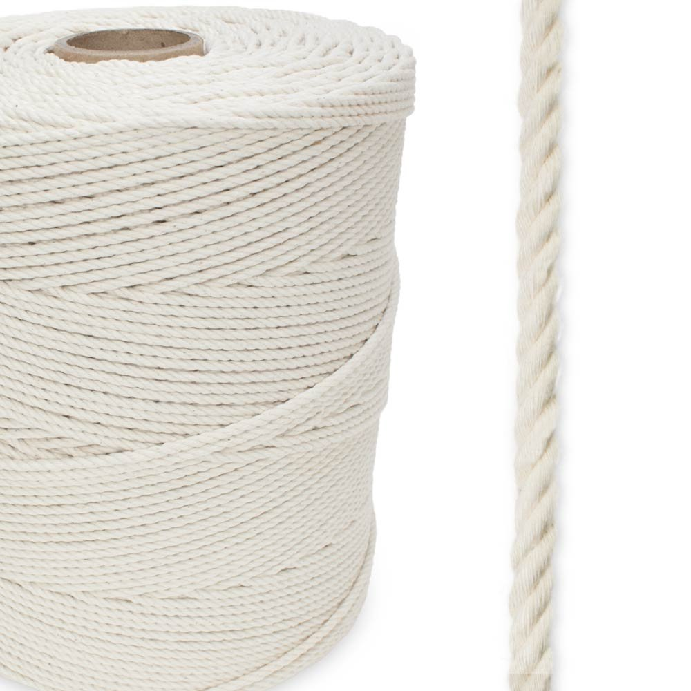 Cotton All Natural 3-Strand 1/8'' x 2,400 ft Spool