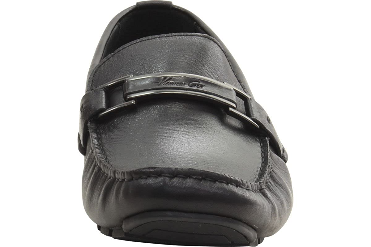 Kenneth Cole Mens Fashion Shoes Private is-Land LE Black Loafer Sz 10