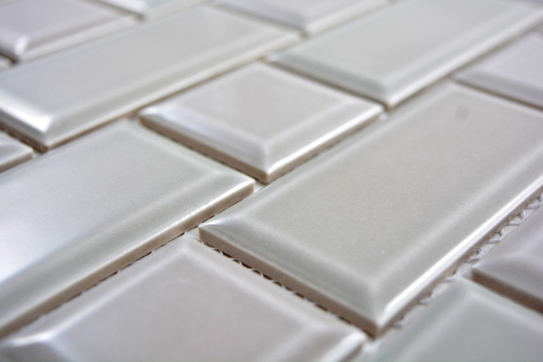 Metro Subway Mosaik Fliese Keramik grau steingrau f/ür WAND BAD WC DUSCHE K/ÜCHE FLIESENSPIEGEL THEKENVERKLEIDUNG BADEWANNENVERKLEIDUNG WB26WM-0202