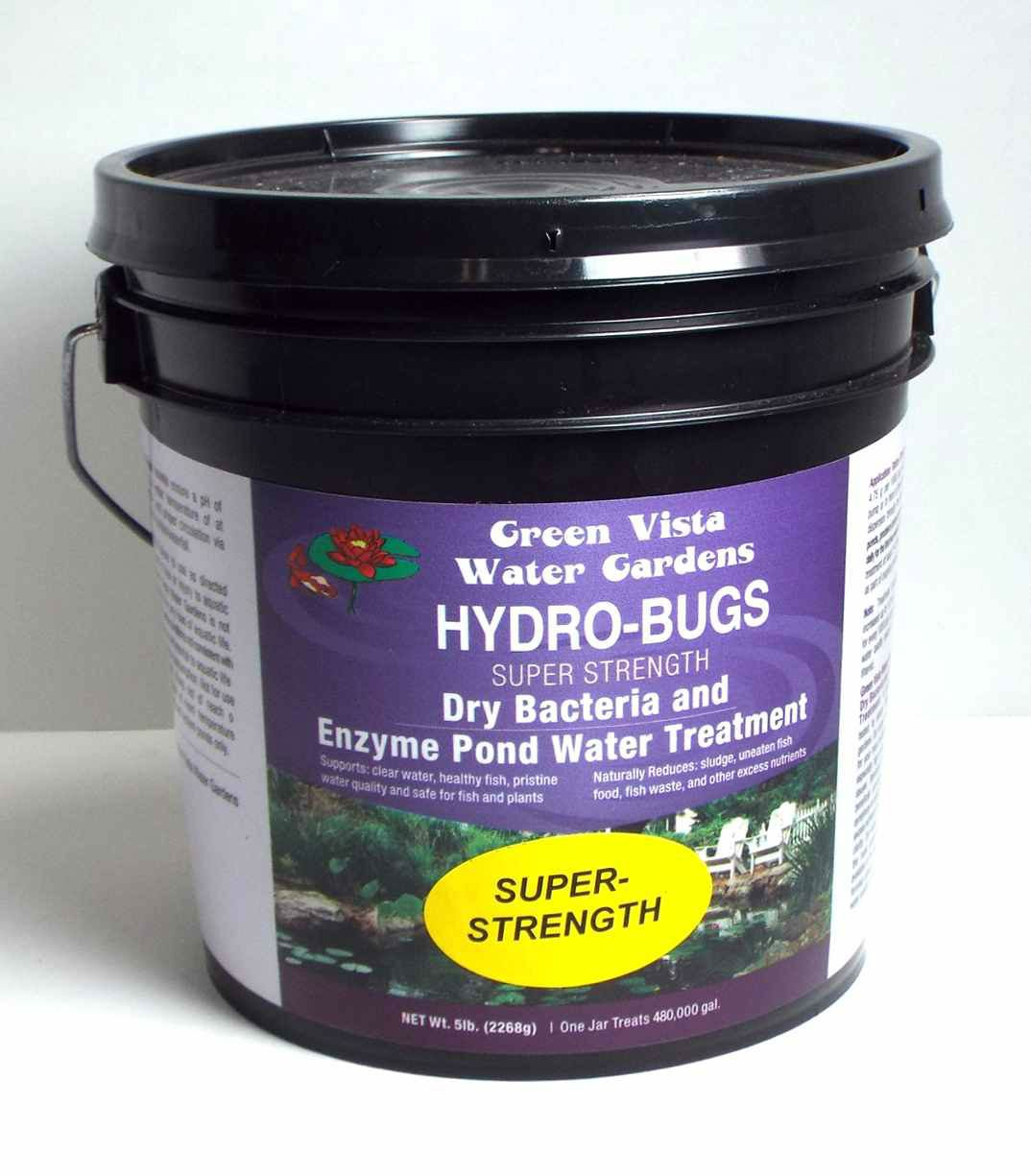 Green Vista Hydro-Bugs Dry Beneficial Bacteria - Super Strength - 5 Pounds - Pond Algae Control - Probiotic Treatment Reduces Sludge, Fish Waste - Improves Water Quality, Clarity - Koi, Plant Safe