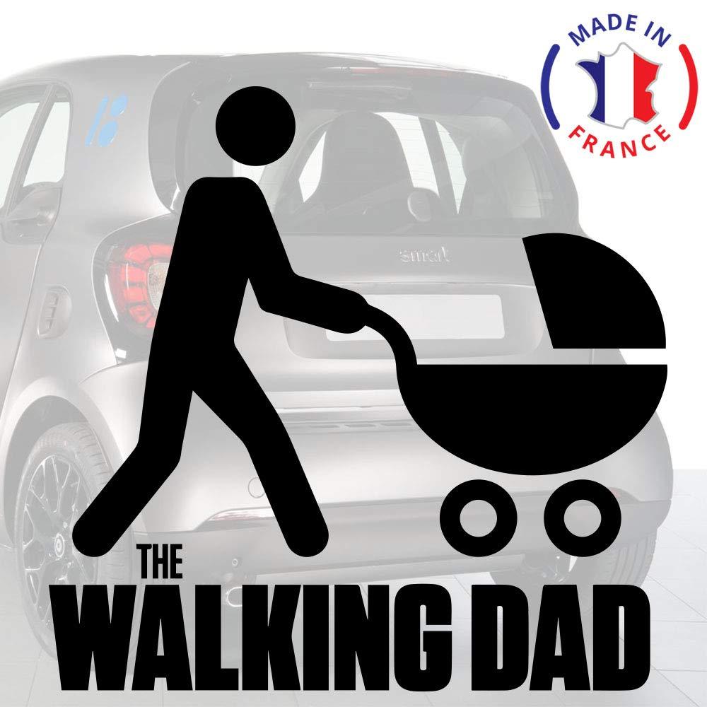 Sticker b/éb/é /à bord pour voiture The Walking Dad 15 cm Noir Anakiss