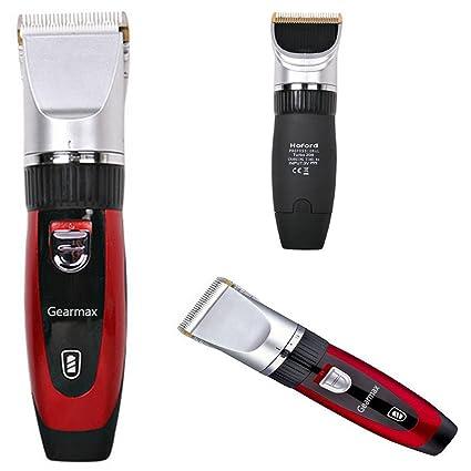 Gearmax® Cortapelos electrónico, maquinilla de afeitar ajustable con 4 peine, peluquero profesional, adecuado para hombre bigote, bebé, niños, adultos, ...