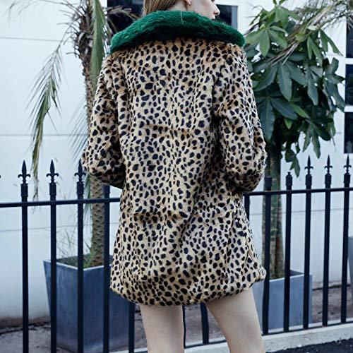 Cappotto Inverno Pelle Donna Lunghe Donna Donna Donna Cappotto Donna Cappotto Giacca Casuale di Leopardo Autunno Maglione Maniche Marrf Cardigan Moda Maglieria Cappotto Top di Giacca BaZhaHei qXwBxpHaq