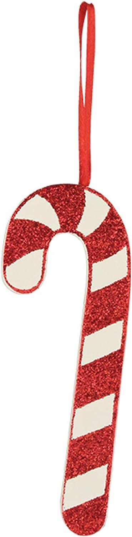 "Bethany Lowe 4"" Glitter Candy Cane Christmas Tree Retro Vintage Decor Ornament"