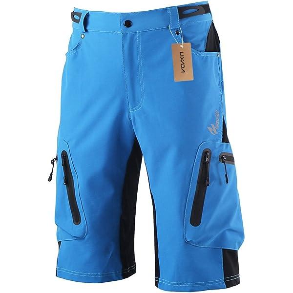 Lixada Pantalones cortos de bicicleta de montaña transpirables ...