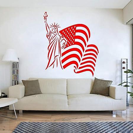 yaoxingfu Bandera de EE. UU. Tatuajes de Pared Vinilo Adhesivos ...